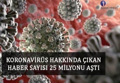 Koronavirüs Hakkında Çıkan Haberler 25 Milyonu Aştı